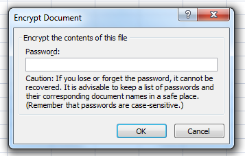 password protect dialog box in excel